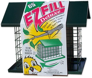 """E-Z Fill Deluxe """"Snak""""/Suet Feeder with Roof + Platform"""