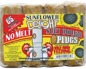 Sunflower Delight No Melt Suet Dough Plugs