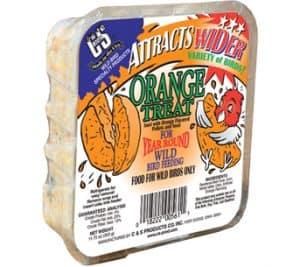 Orange Treat Suet for Wild Birds