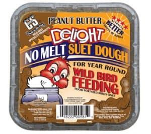 Peanut Butter Delight No Melt Suet Dough for Wild Birds
