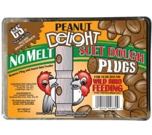 Peanut Delight No Melt Suet Dough Plugs