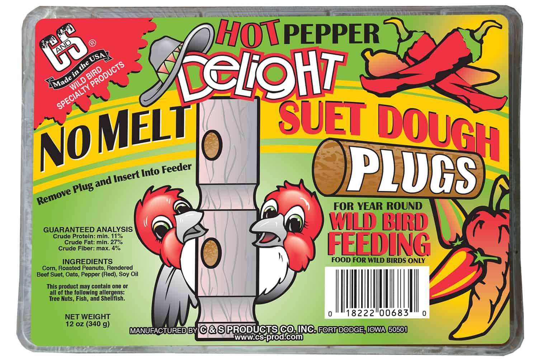cs products hot pepper no melt suet plug for wild bird