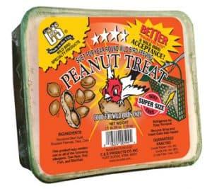 Peanut Treat Large Suet Cake for Wild Birds